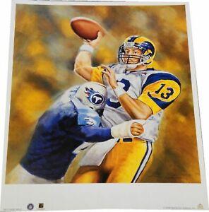 Kurt Warner 16x19 Poster Photo Unsigned Throwing the Football Rams Brand New