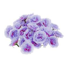 50x Artificial Silk Rose Peony Flower Heads BULK Craft Wedding Decor Purple