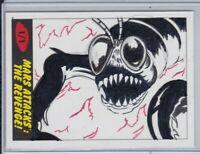 2017 Topps Mars Attacks The Revenge 1/1 Sketch Card Signed by Kelly Greider