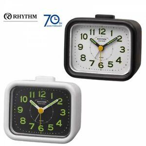 Rhythm Made in Japan Quartz Alarm Clock Jabre Craft 2 Colors Fast Shipping Japan