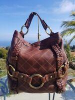Isabella Fiore Carina Hobo X-large Tote, Brass & Goldtone Hardware Handbag