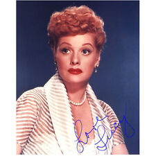 Lucille Ball Posing Close Up in White with Red Lips 8 x 10 Inch Photo