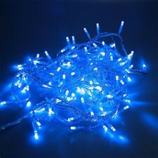 72 LED Lichterkette 6 m BLAU transparent 230V