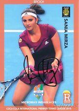 Sania Mirza 2015 Epoch IPTL Tennis Gold Foil Facsimile Signature #7/10 MINT