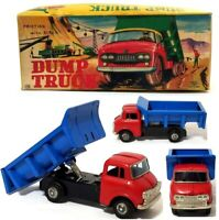 Antique Vintage ASC  Made in Japan Dump Truck Tin Toy with Original Box