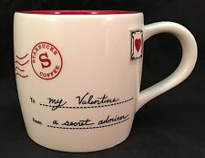 Starbucks White Red To My Valentine From A Secret Admirer Coffee Mug Cup 13 Oz