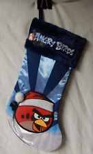 Blue Angry Birds RED Bird Christmas Stocking