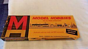HO Scale Model Hobbies, Station Platform Wood Craftsman Kit #544 BNOS