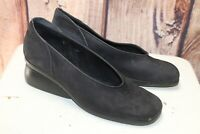 Arche France 39 9 Wedge Black Loafers Women's Shoes