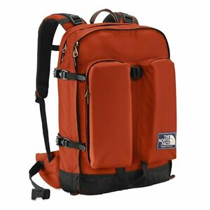 NWT The North Face Crevasse Classic Daypack Leopard Yellow and Clay Red Backpack