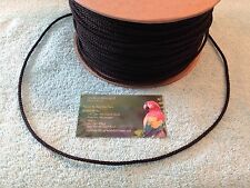 BLACK PAULIE/POLLY ROPE - 30 FEET - PARROT TOY MAKING PART - MANY USES