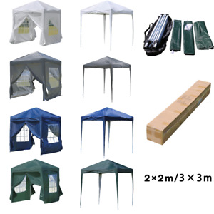 2X2m 3X3m Pop-up Gazebo with Sides Outdoor Wedding Garden Tent Marquee Canopy