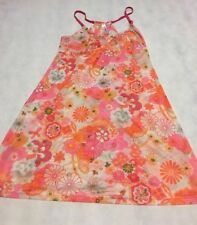 JOSIE NATORI forTarget Sz S Sheer Pink/Orange Stretch Chemise Babydoll Nightgown