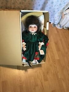 """1996 Marie Osmund Olive May Christmas doll 20"""" 1585/7500"""