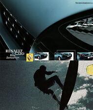 Prospectus 2002 renault Clio Blue sensation spécial modèle autoprospekt 1 02 voitures