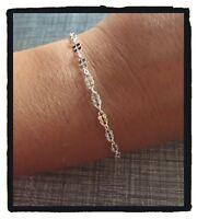 Bracelet fin petite maille Argent Massif 925/1000 Bijoux Femme NEUF