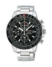 Runde Seiko Armbanduhren mit Chronograph