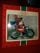 """Hallmark Hand Crafted Ornament """"JOY RIDE"""" Dated 1987 NIB"""