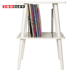 Crosley ST66-WH Manchester Entertainment Center Stand White for Vinyl Records