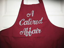 A Catered Affair Embroidered Baker Chef Kitchen Restaurant Apron Burgundy Cookin