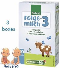 Holle Lebenswert Stage 3 Organic Formula, 3 BOXES, 10/2018 FREE PRIORITY MAIL
