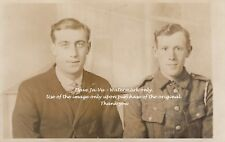 RPC Postcard: WW1 - British Territorial Soldier and His Father