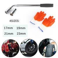 Extendable Car Wheel Brace Heavy Duty Nut Wrench + Sockets 17/19mm & 21/23mm NEW