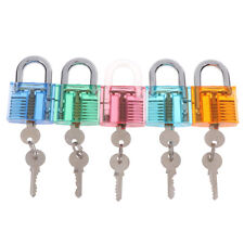 Transparent Visible Pick Practice Padlock Lock With Key Removing Hook KRSDE