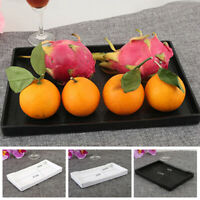 1 Pc Rectangle Melamine Tea Coffee Snack Food Serving Tray Home Restaurant Plate