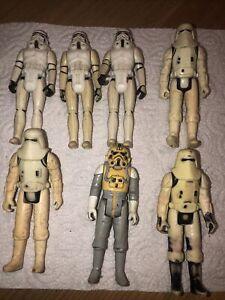 Vintage Star Wars 7x Action Figures Job Lot Original Bundle Stormtrooper