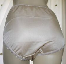 Vintage style gold silky nylon gusset full briefs knickers panties size ex large