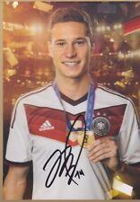 JULIAN DRAXLER Paris DFB WM 2014 GOLD AUTOGRAMMKARTE LIMITIERT SIGNIERT RAR