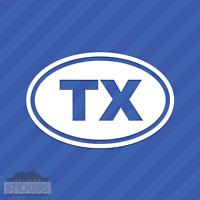 Texas TX Oval Vinyl Decal Sticker