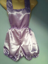 Lilac satin pants romper pantaloons french maid cosplay sissy adult baby  32-42
