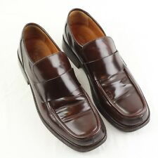 Russell & Bromley Mens Brown Leather Loafer Square Toe Made in Italy US12.5 EU46