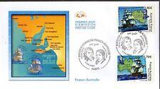3476/7+ FDC   ENVELOPPE   1er JOUR CEF   EEMISSION  COMMUNE FRANCE  AUSTRALIE