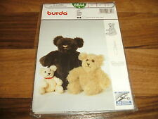 BURDA-BABY Schnittmuster 8844            3 verschiedene TEDDYBÄREN/BÄR/BÄREN