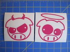 Subaru JDM Good vs Evil Rally Pigs Vinyl Decal - Sticker 4x4 - Any Color