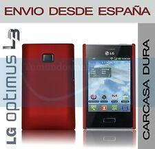 CARCASA FUNDA DURA ROJA LG OPTIMUS L3 E400 EN ESPAÑA