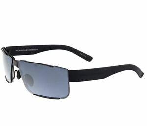 Porsche Design Sonnenbrille Sunglasses P8509 C schwarz blau Titan NEU + OVP