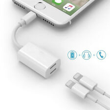 Dual Lightning Adapter Port Audio Charge Data Transfer For iPhone X 7 8 Plus