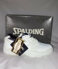 Spalding Men's 8 W  Athletic Shoes CCT White Leather