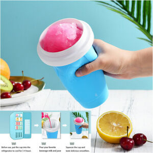 TIK TOK Slushy Maker Cup Slushie Maker Squeeze Smoothies Magic Quick ice blue