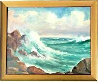 Antique Clyde Leon Keller Oregon Beach Oil Painting West Coast Listed Artist