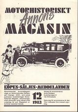 Motorhistoriskt Magasin Annons Swedish Car Magazine 12 1983 Nash 032717nonDBE