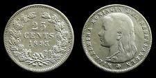 Netherlands - 25 Cent 1895 a: muntmeesterteken recht