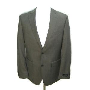 New MARC ANTHONY Men's (Size 40R) Solid Brown 2 Button Sport Coat Blazer Jacket