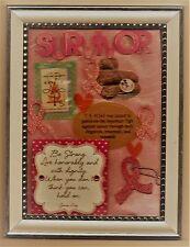 Cancer Survivor Tribute-Framed Art-Crusade 5 cent stamp-Collectible-Free Ship