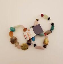 NWT Chunky Multi Stone Bead Stretch Bracelets set of 3