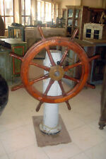 Vintage Atlas Ships Wheel and Helm Post 145x100x100cm 50cm deep